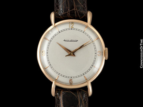 1947 Jaeger-LeCoultre Vintage Large Mens Watch With Tear Drop Lugs - 18K Rose Gold