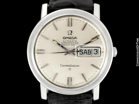 1969 Omega Constellation Vintage Mens Calendar Day Date Watch - Stainless Steel
