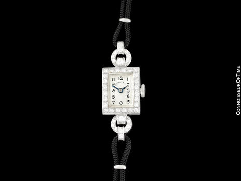 1940's Tiffany & Co. Ladies Vintage Watch - Platinum & Diamonds