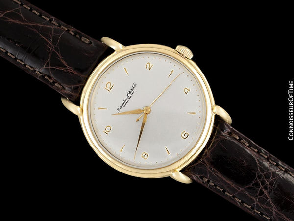 1947 Vintage IWC Mens Large Caliber 89 Handwound Watch with Claw Lugs - 18K Gold
