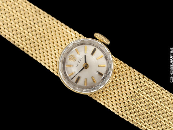 1960's Rolex Vintage Ladies Watch with Original Bracelet, 14K Gold - The Chameleon