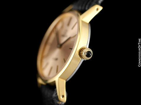 1979 Omega De Ville Vintage Ladies Dress Watch with Peach Dial - 18K Gold Plated & Stainless Steel
