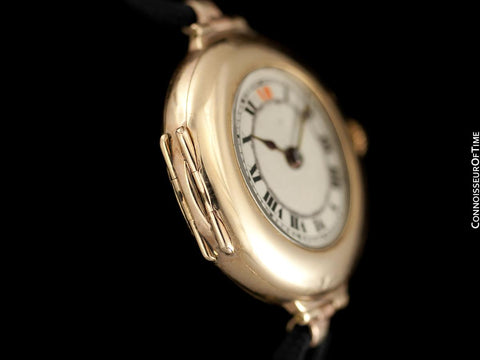1918 Rolex Ladies Vintage Art Deco Watch - 9K Rose Gold
