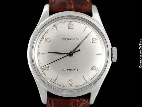1950's Tiffany & Co. by Cresarrow Mens Automatic Watch - Stainless Steel