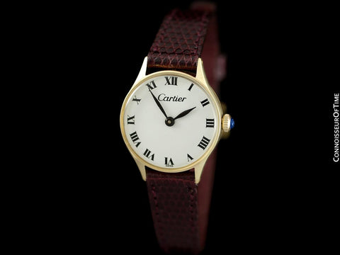 1970's Cartier Vintage Classic Ladies Handwound Watch - 14K Gold
