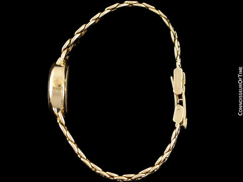 1980's Rolex Ladies Vintage Dress Bracelet Watch - 14K Gold
