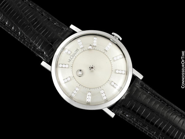 1957 Jaeger-LeCoultre Vintage Galaxy Mystery Dial Mens Watch - 14K White Gold & Diamonds