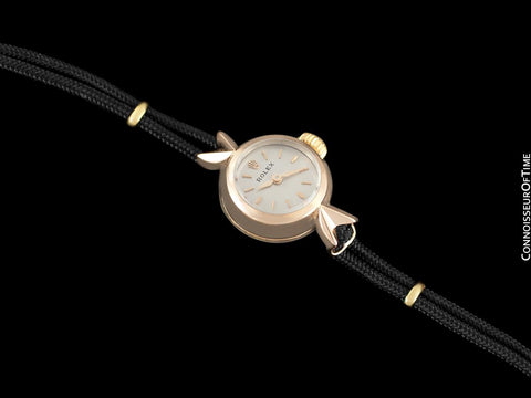 1960's Rolex Precision Vintage Pre-Cellini Ladies Watch, Ref. 9676 - 18K Rose Gold