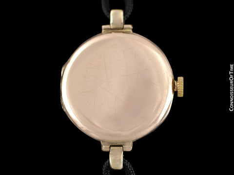 1910s Rolex Ladies Vintage Art Deco Watch - 9K Rose Gold