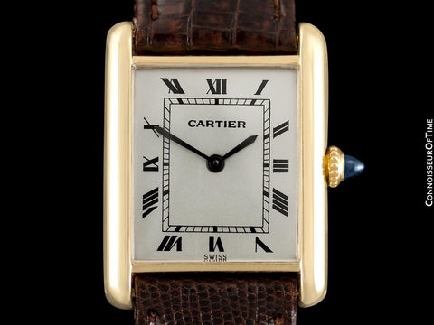 Cartier Tank Louis Mens (Midsize) Watch - Solid 18K Gold