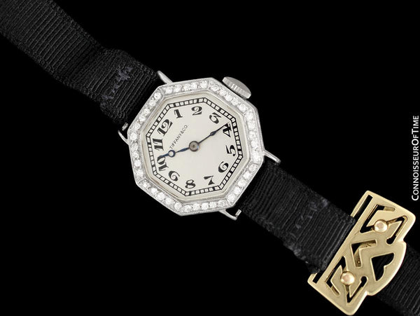 1920's Tiffany & Co. Vintage Art Deco Ladies Watch - Platinum & Diamonds