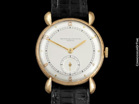 1935 Vacheron & Constantin Vintage Mens Tear Drop Lug Watch - 18K Gold