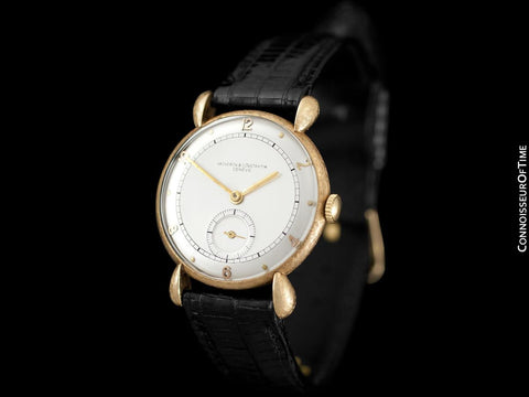 1935 Vacheron & Constantin Vintage Mens Tear Drop Lug Watch - 14K Gold