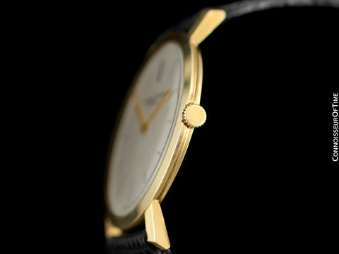 "1960's Audemars Piguet ""Extra-Flat"" Vintage Mens Midsize Watch - 18K Gold"