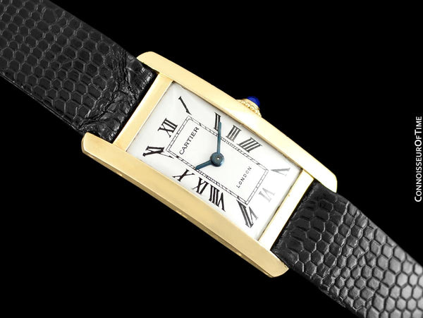 Cartier Tank Americaine Vintage Mens 18K Gold Watch - Owned & Worn by Jerry Lewis