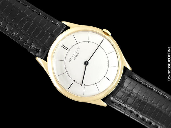 c. 1960 Patek Philippe Vintage Mens Handwound Watch, Ref. 2507 - 18K Gold