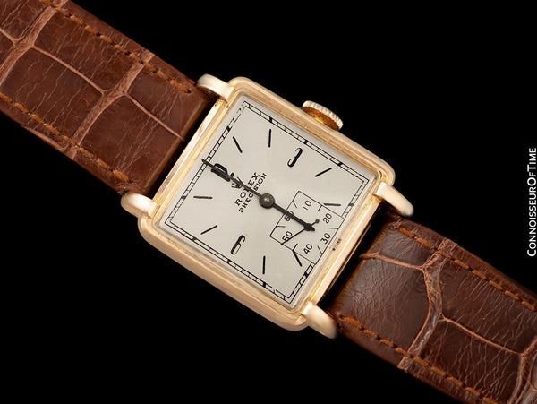 1938 Rolex Precision Vintage Mens Dress Watch - 18K Rose Gold