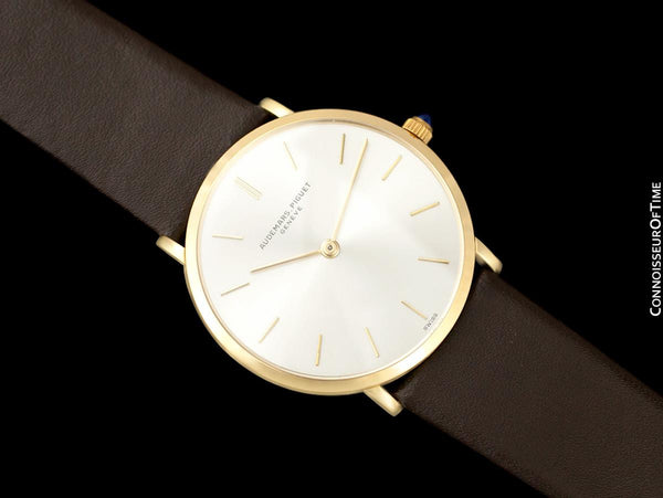 "1970's Audemars Piguet ""Extra-Flat"" Vintage Mens Midsize Watch - 18K Gold"