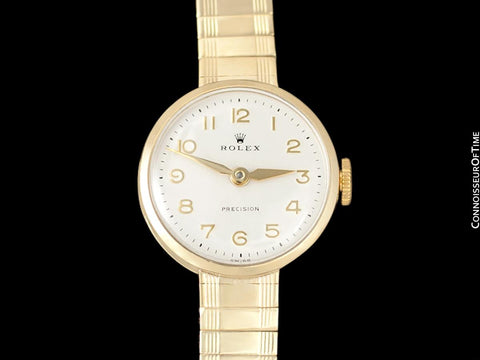 1960's Rolex Precision Ladies Vintage Pre-Cellini Dress Watch - 9K Gold