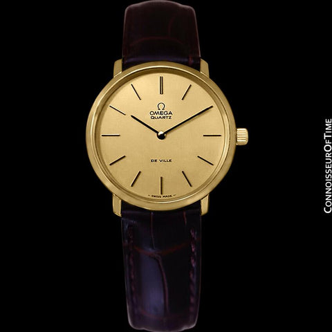 1978 Omega De Ville Accuset Vintage Mens Quartz Watch - 18K Gold Plated