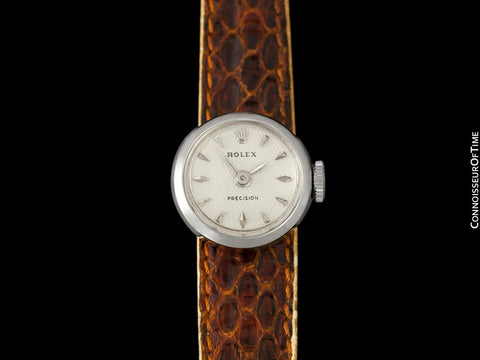 1955 Rolex Vintage Ladies Watch, 18K White Gold - The Chameleon - Box, Straps & Receipt
