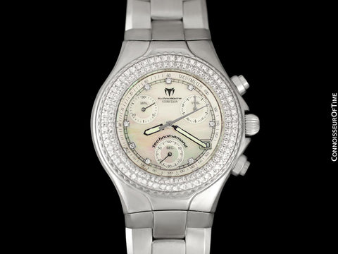 TechnoMarine TechnoDiamond Ladies Stainless Steel & Diamond Chronograph Watch - Owned & Worn By Olivia Newton-John