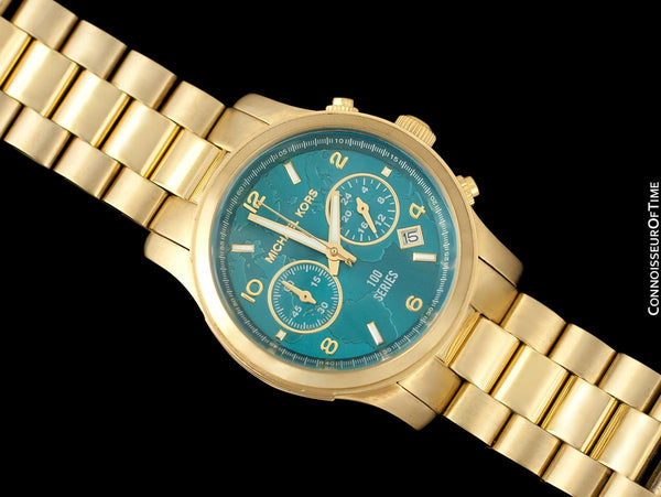 "Michael Kors ""Watch Hunger Stop"" Ladies Gold Tone Chronograph Watch - Owned & Worn By Olivia Newton-John"