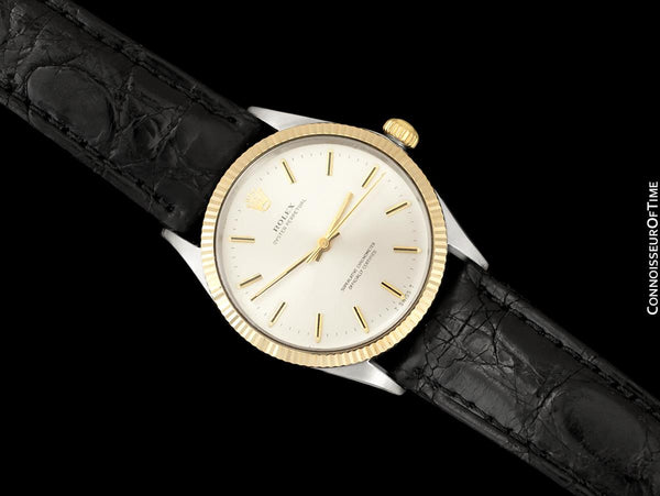 1974 Rolex Oyster Perpetual Vintage Mens Ref. 1005 Watch - 18K Gold & Stainless Steel - Near NOS with Papers