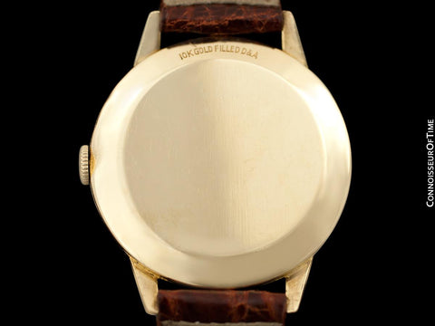 1949 Jaeger-LeCoultre Vintage Mens Triple Date Moon Phase Calendar Watch - 10K Gold Filled
