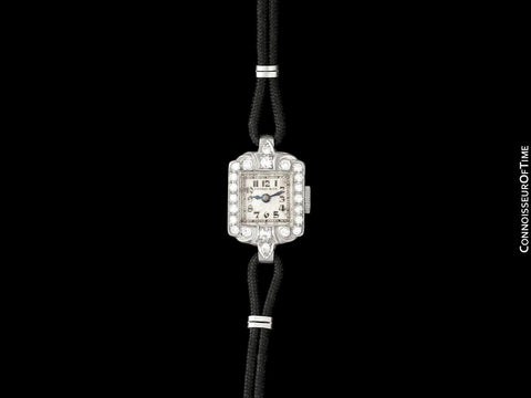 1930's Tiffany & Co. Ladies Vintage Watch - Platinum & Diamonds