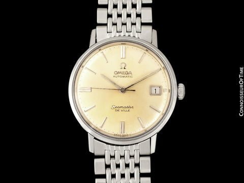 1965 Omega Seamaster DeVille Vintage Mens Cal. 560 Stainless Steel Watch, Automatic, Date - Rare Only 3000 Made