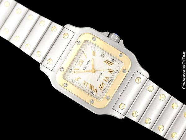 Cartier Santos Automatic Mens Bracelet Watch - Stainless Steel & 18K Gold