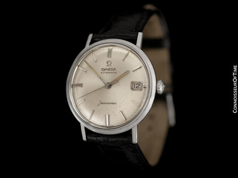 1960's Omega Seamaster Vintage Mens Cal. 560 Stainless Steel Watch, Automatic, Date - Rare Only 3000 Made