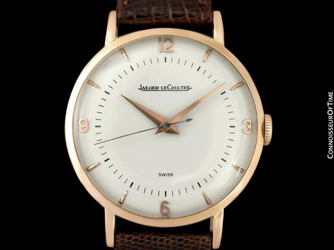 1946 Jeager-LeCoultre Vintage Large Mens Watch - 18K Rose Gold