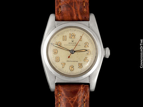 1946 Rolex Vintage Mens WWII Era Bubbleback, Ref. 2940, Stainless Steel - Very Fine & Rare