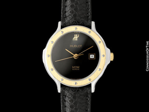 Hublot MDM Ladies Luxury Sports Watch - Stainless Steel & 18K Gold