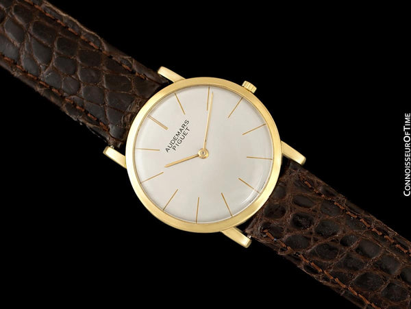 "1955 Audemars Piguet ""Extra-Flat"" Vintage Mens Midsize Watch - 18K Gold"
