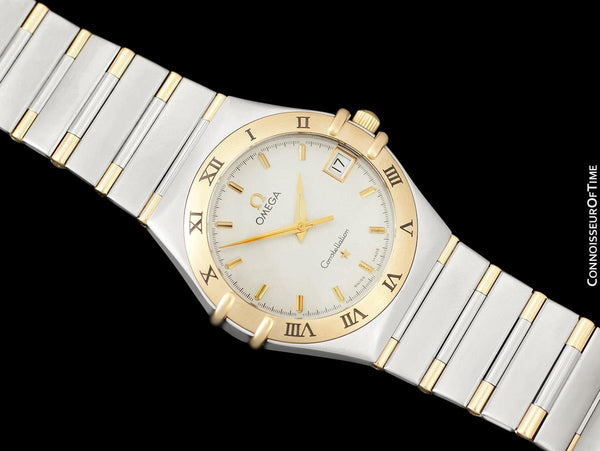 Omega Constellation Mens 35mm Watch, Quartz, Date - Stainless Steel & 18K Gold
