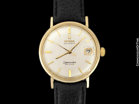 1967 Omega Seamaster Vintage Mens Cal. 560 14K Gold Filled Watch, Automatic, Date - Rare Only 3000 Made