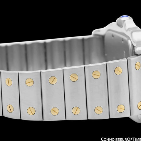 Cartier Santos Galbee Mens Two-Tone Bracelet Watch with Date - Stainless Steel & 18K Gold
