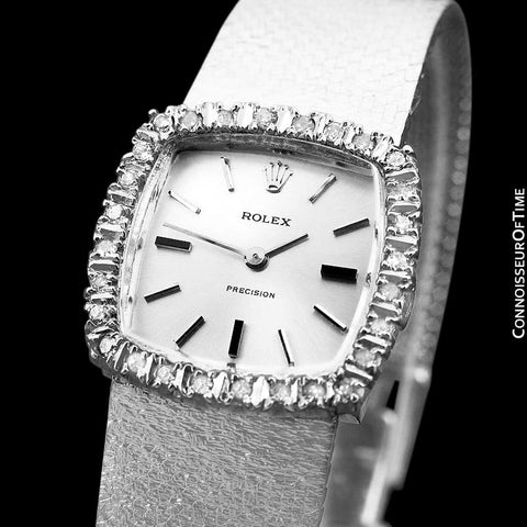 1973 Rolex Ladies Vintage Dress Bracelet Watch - Stainless Steel & Diamonds
