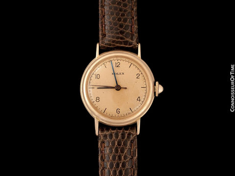 "1938 Rolex Precision Vintage Pre-Cellini Ladies ""Nurse"" Style Watch, Ref. 3768 - 14K Rose Gold"