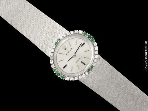 c. 1972 Rolex Ladies Vintage Dress Bracelet Watch - Stainless Steel & Diamonds