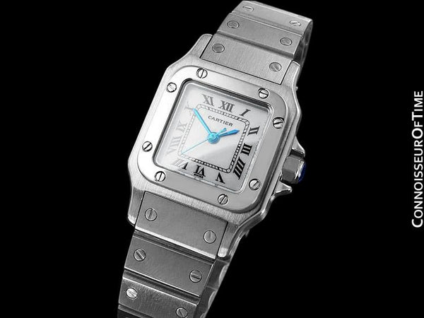 Cartier Santos Ladies Automatic Bracelet Watch - Stainless Steel