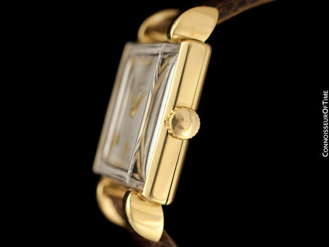 1950 Patek Philippe Vintage Mens Handwound Square Watch with Claw Lugs, Ref. 2409 - 18K Gold with Papers