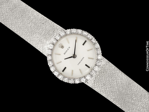 1970 Rolex Ladies Vintage Dress Bracelet Watch - Stainless Steel & Diamonds