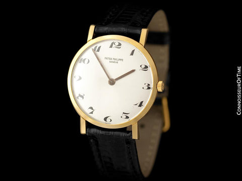 "1966 Patek Philippe Vintage Mens Midsize ""Ultra Thin"" Wristwatch, Ref. 3512 - 18K Gold"
