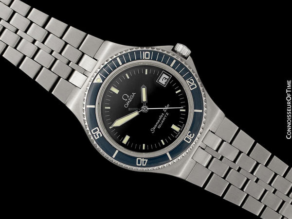 1984 Omega Seamaster Calypso 120M Vintage Full Size Mens Quartz Watch, Date - Stainless Steel