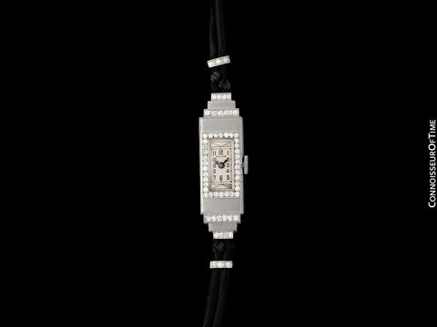 1920's Rolex Exquisite Ladies Vintage Art Deco Watch - Platinum & Diamonds