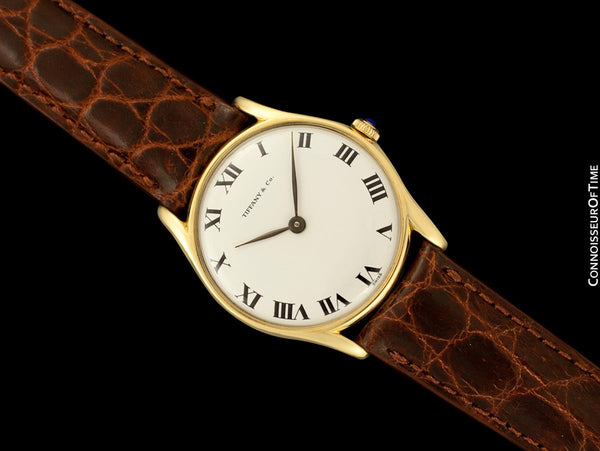 1960's Tiffany & Co. Mens Vintage Handwound Dress Watch - 14K Gold